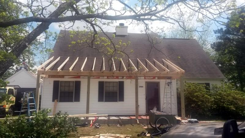 Residential Porch Roof Replacement